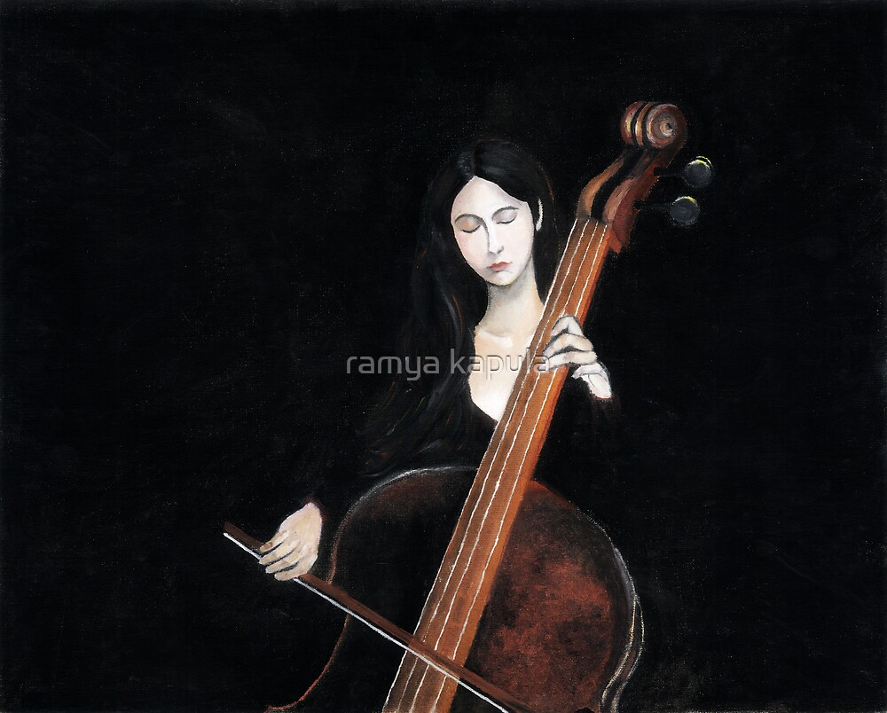 girl playing cello by ramya kapula