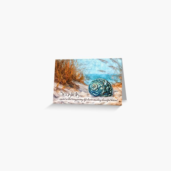Sympathy - Seashell on the Beach Watercolor  Greeting Card