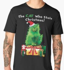 Green Grinch Cat Who Stole Christmas Funny  Men's Premium T-Shirt