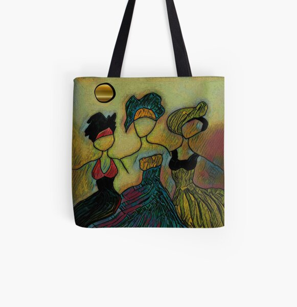 Three Sisters All Over Print Tote Bag