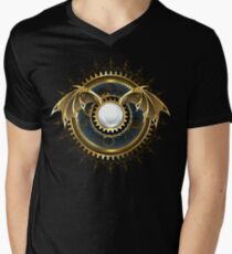 Mechanical Dragon Wings with a Lens ( Steampunk wings ) Men's V-Neck T-Shirt