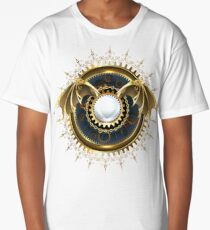 Mechanical Dragon Wings with a Lens ( Steampunk wings ) Long T-Shirt