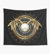 Mechanical Dragon Wings with a Lens ( Steampunk wings ) Wall Tapestry