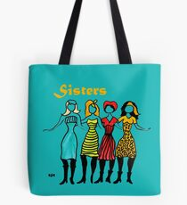 Four Sisters in Turquoise Tote Bag