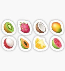 Fruit 'emoji' pattern Sticker