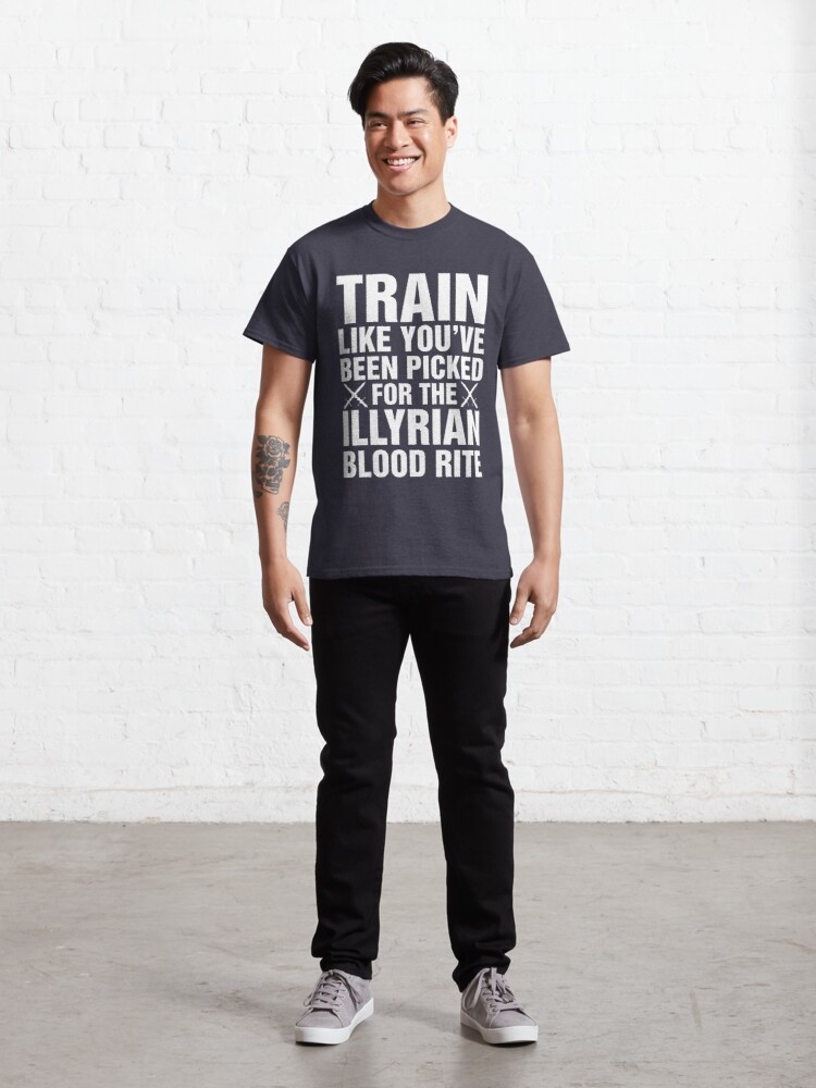 Alternate view of A Court of Mist and Fury, Illyrian Warriors, Rhysand, Feyre, Feysand, Train Like Classic T-Shirt