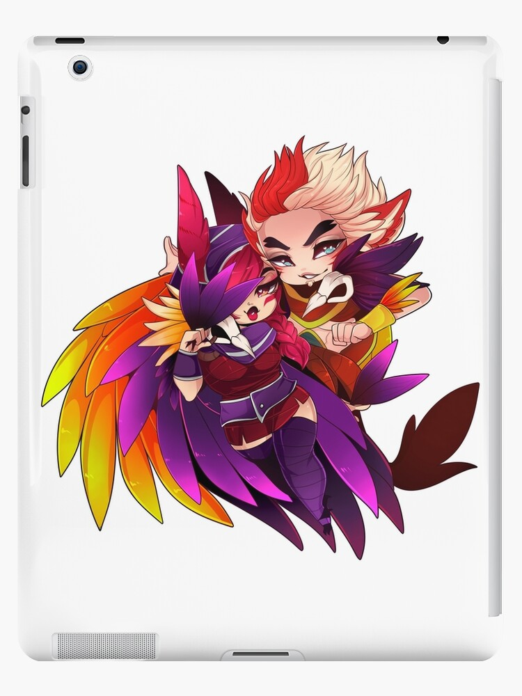 'Together We Fight - Xayah and Rakan' iPad Case/Skin by Mitzbehaven