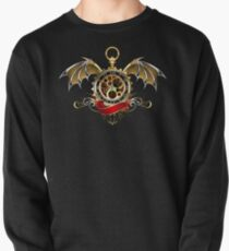 Clock with Dragon Wings ( Steampunk wings ) Pullover