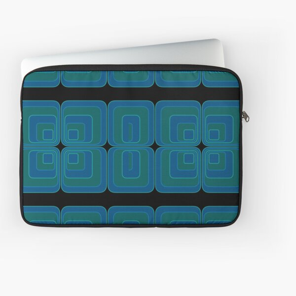 Panton Style Squares Blue And Green Laptop Sleeve