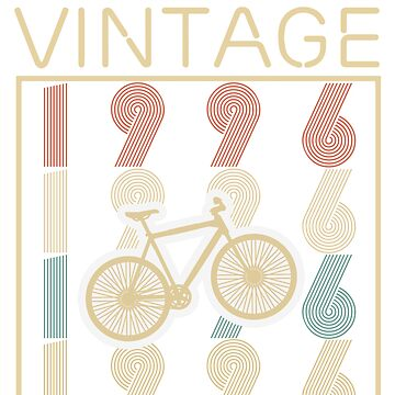 Bicycles vintage awesome since 1996 - Retro Birthday T shirt by oocrazydesignoo