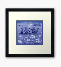 Natural History in Indigo | CreateArtHistory Framed Print