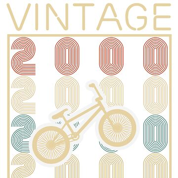 Bicycles vintage awesome since 2000 - Retro Birthday T shirt by oocrazydesignoo