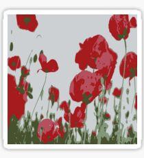 Poppy Field Of Remembrance Vector Sticker