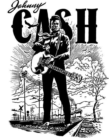 Johnny Cash By Gabrielskraus