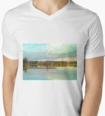 Child At Green Lake Men's V-Neck T-Shirt