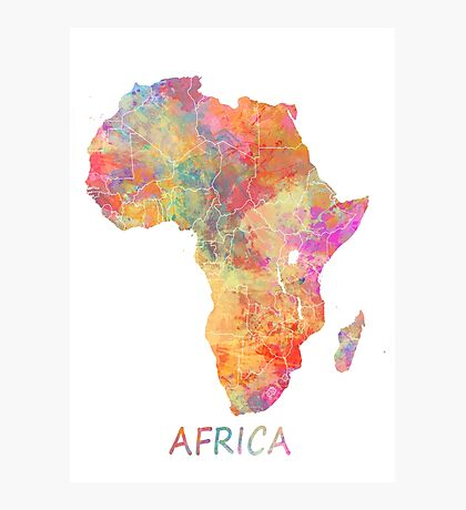 Map Africa  Photographic Print