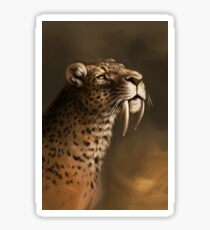 Sabre-toothed cat Sticker
