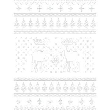 Moose Pattern Christmas Sweater by Gaill