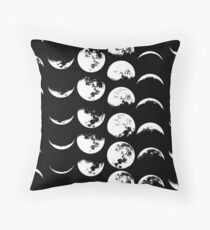 Moon Phases No. 2 Throw Pillow