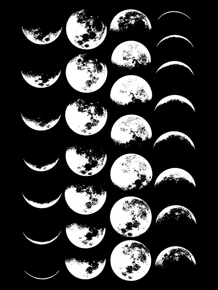 Mondphasen Nr. 2 von wolfandbird