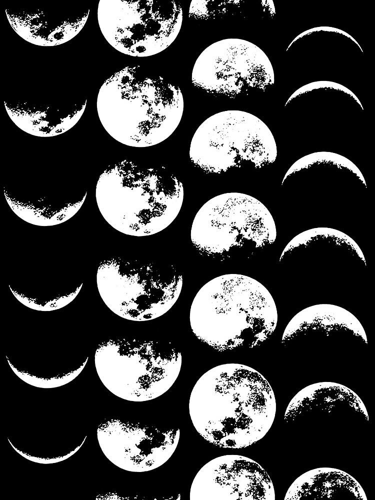Fases de la Luna n. ° 2 de wolfandbird
