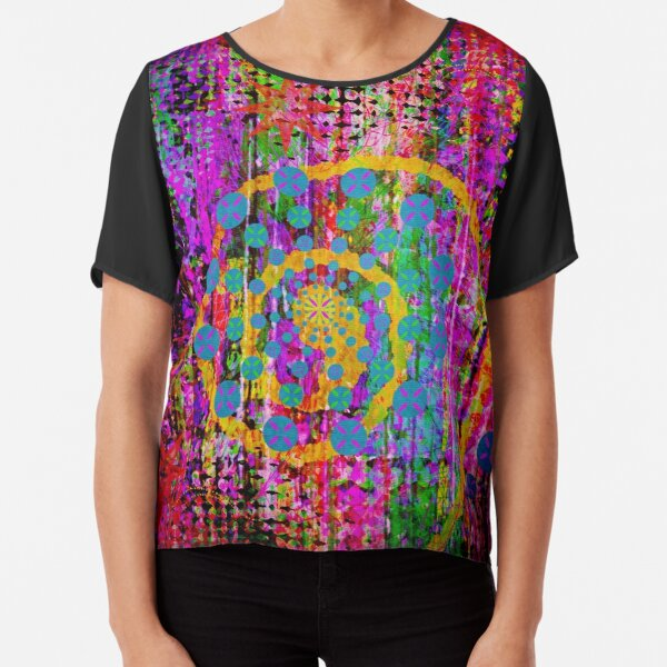 Trippy Abstract Chiffon Top