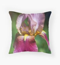 Bright and Glowing Iris Throw Pillow