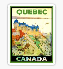 Quebec, Canada, vintage travel poster Sticker