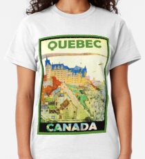 Quebec, Canada, vintage travel poster Classic T-Shirt