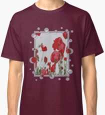 Poppy Field Of Remembrance Vector Classic T-Shirt