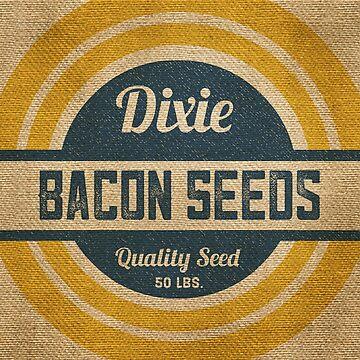 Bacon Seed Vintage Burlap Sack by marceejean