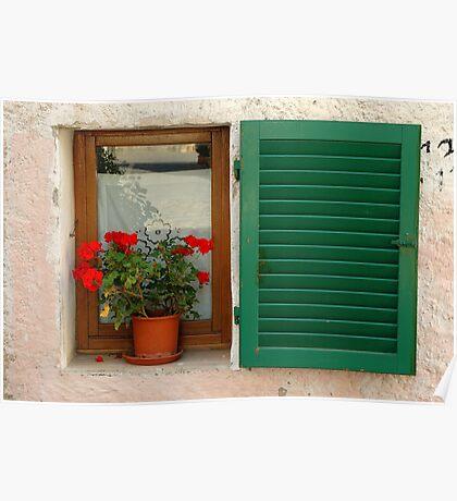 Window, Tuscany, Italy Poster