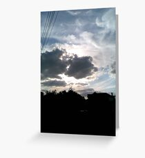 City Sunset Greeting Card