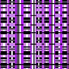 Plaid in Purple, Black & Gray by Valerie  Fuqua