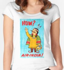 India airline, vintage travel poster Women's Fitted Scoop T-Shirt