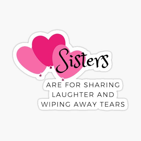 SISTERS ON BOARD PINK LOVE HEART STICKER