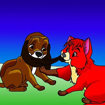 Fox and the Hound Digital Drawing by ArkainStudios