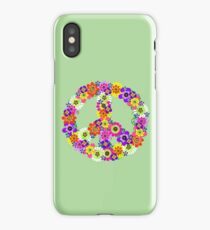 Peace Sign Floral iPhone Case/Skin