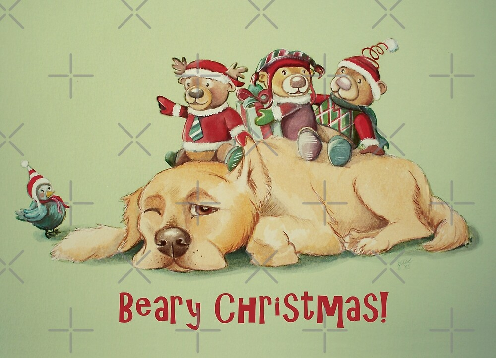 Beary Christmas by Sarah  Mac Illustration