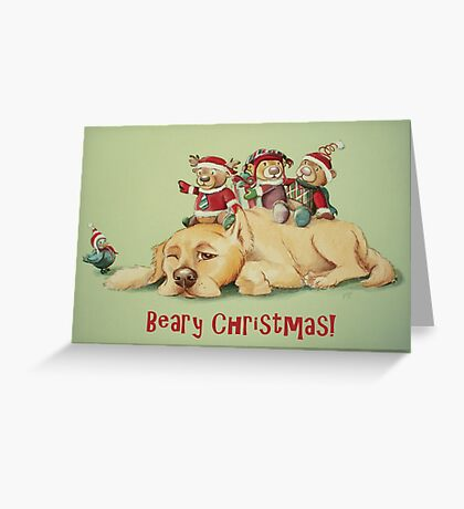 Beary Christmas Greeting Card