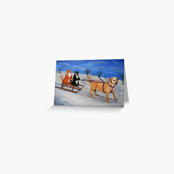 Sleigh Drivers Greeting Card