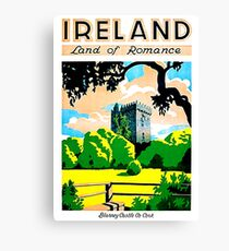 Ireland, land of romance, Blarney Castle and gardens Canvas Print