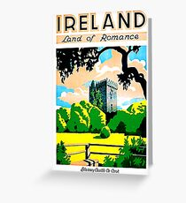 Ireland, land of romance, Blarney Castle and gardens Greeting Card