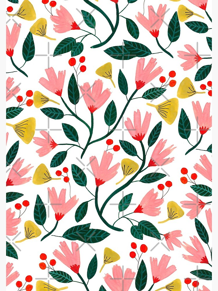 Pink Floral Pattern by artiisan