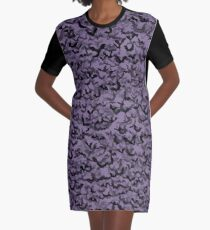 Fledermäuse T-Shirt Kleid