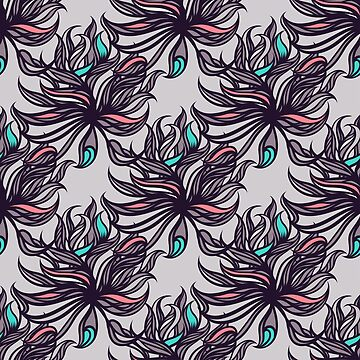 Abstract floral seamless pattern. by yelenayefimova