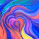 Love - Abstract Art  by chrissyturley