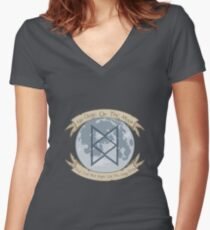 No Dogs On The Moon Women's Fitted V-Neck T-Shirt