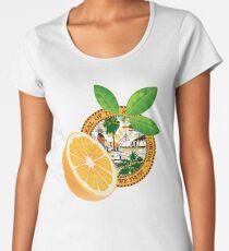 Florida Flag, Orange Fruit Women's Premium T-Shirt