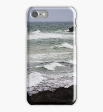 Ends in the ocean. iPhone Case/Skin